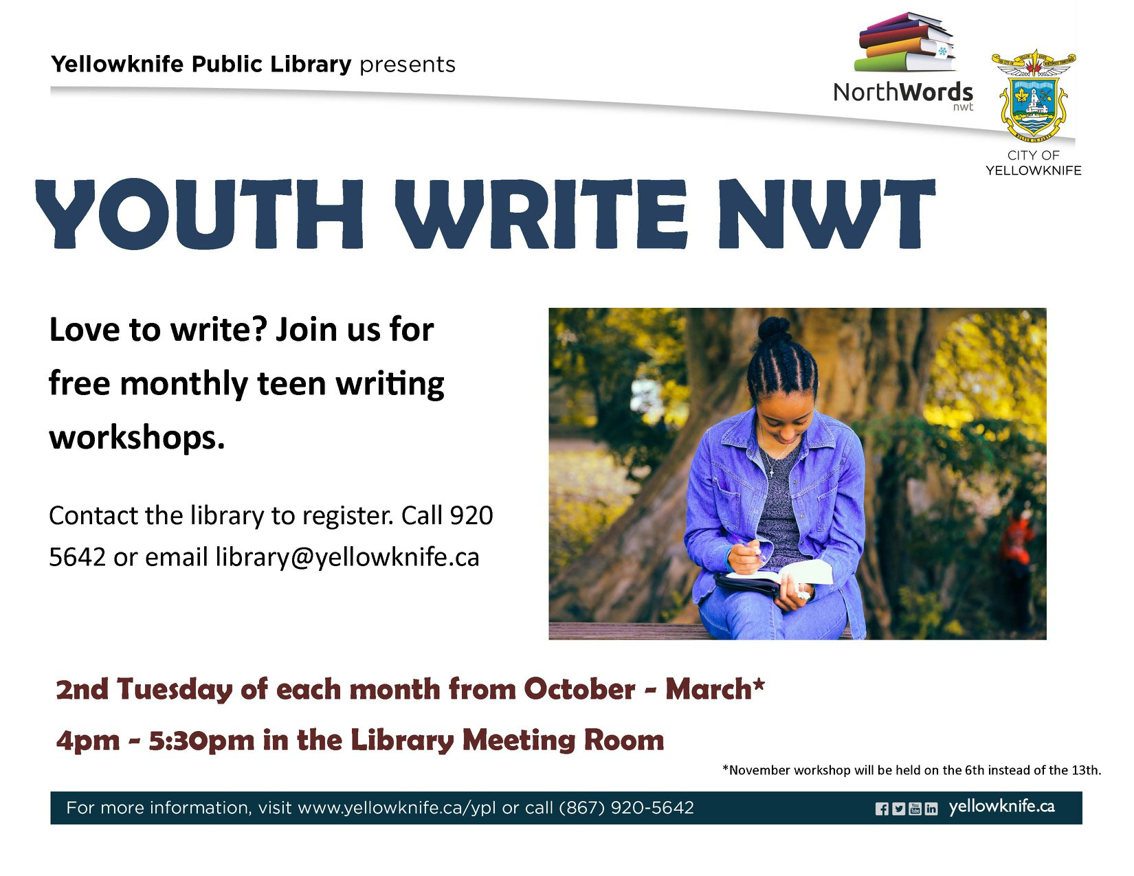 Youth Write NWT Workshops - Northwords NWT